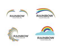 Rainbow Logo Icon Vector Template