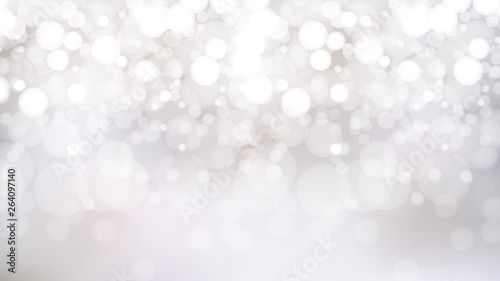 Fotografiet  Abstract White Bokeh Lights Background Graphic