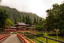 Japanese Byodo Temple In Oahu