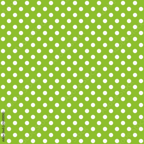 fototapeta na szkło A seamless pattern is a large white dot on a lime green background. EPS Vector file suitable for filling any form.