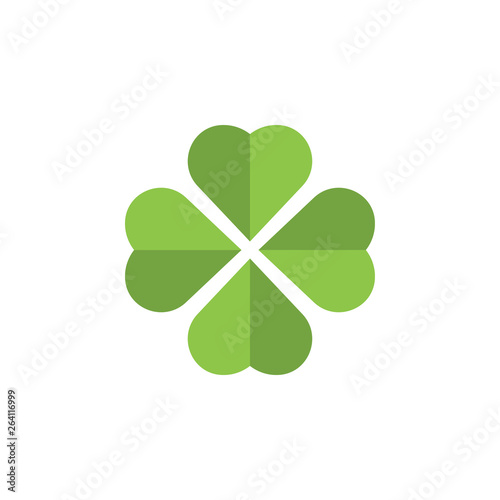 Fotografia, Obraz Clover leaf clip art graphic design template