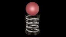 Red Ball Bounces Up And Down O...