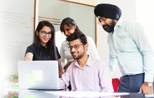Indian Business Team Working