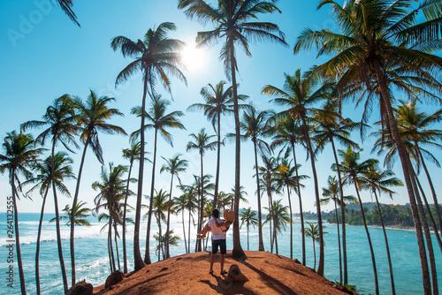 Foto auf AluDibond Palms Couple at Coconut tree hill in Mirissa, Sri Lanka