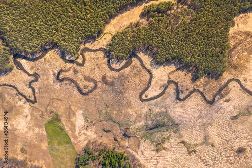 widok-z-lotu-ptaka-z-drona-zakole-rzeki-z-piaszczystymi-odcinkami