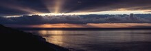 Panorama Of Dramatic Sunrise O...