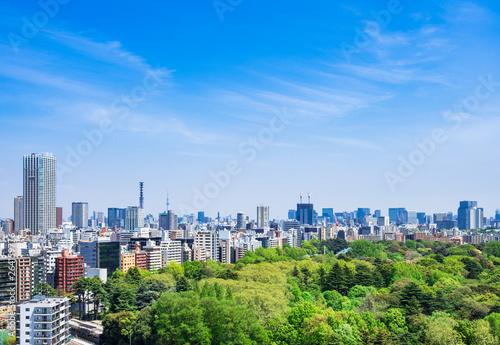 新緑と都市風景 東京(新宿区・千代田区周辺)