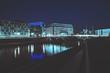 Futuristische Stadtansicht von Berlin bei Nacht
