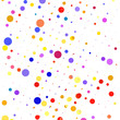 Multicolored bubbles on a white background