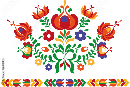 Valokuvatapetti Folk ornament from Eastern Slovakia