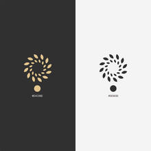Gold Flower Logo Design,vector,illustration Ready To Use For Your Company