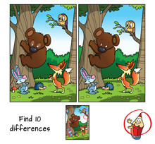 Animals In The Forest. Teddy B...