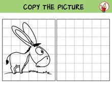 Funny Little Donkey. Copy The ...