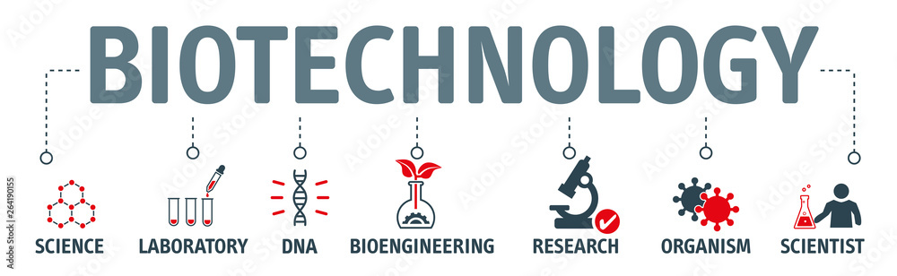 Fototapeta Modern icons set of biotechnology concept