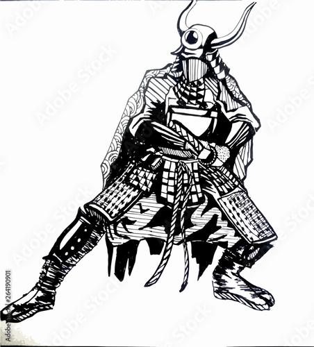 Foto op Plexiglas Art Studio Japan warrior
