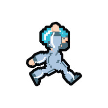 Video Game Avatar Pixelated