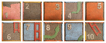 Outdoor Painted Numbers 1-10