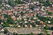 Leinwanddruck Bild Vernouillet, France - july 7 2017 : aerial picture of the town