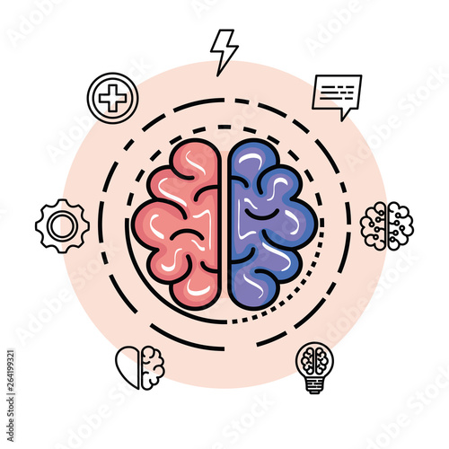 health brain with creative and intelligence memory Wall mural