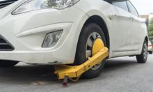 Car Wheel Blocked By Wheel Loc...