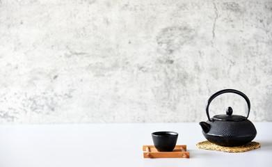 japanese tea set oriental drink style on the table