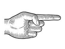 Hand Pointer With Forefinger I...