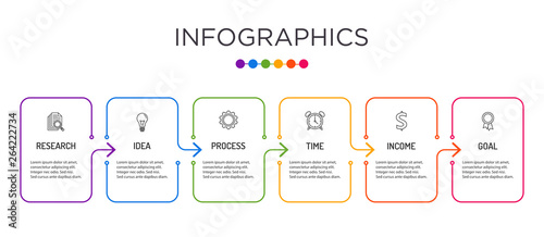 Obraz Full-color business label Infographic template. - fototapety do salonu