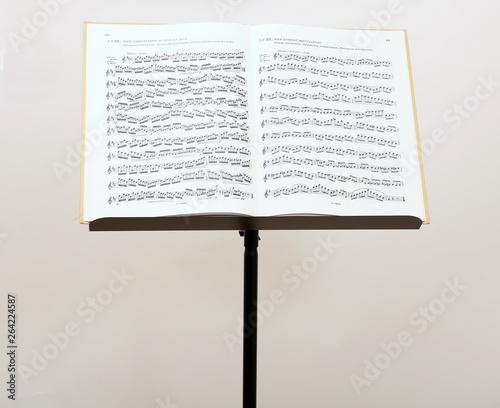 Cuadros en Lienzo Notenständer mit Musiknoten