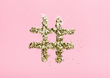 Hashtag From Sparkles On A Pin...