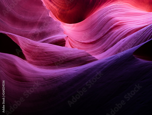Foto auf Leinwand Antilope Colorful Antelope canyon