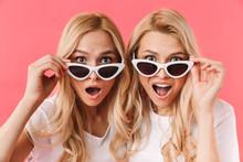Shocked Blonde Twins Take Off ...
