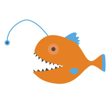 Angler Fish Vector Illustration