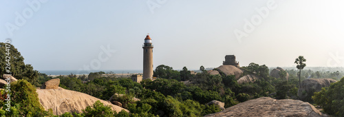 Phare de Mahabalipuram, Tamil Nadu, Inde Fototapet
