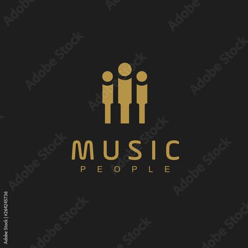 Foto Piano Logo Design Template. Vector Illustration
