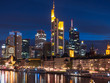 Frankfurt skyline in the night