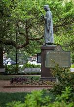 John Wesley Statue In Savannah
