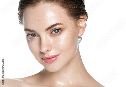 Fotografia, Obraz Beauty skin care woman natural makeup female model closeup