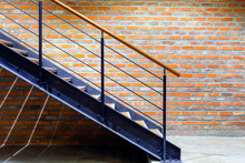 Brick Wall Stairs Architecture