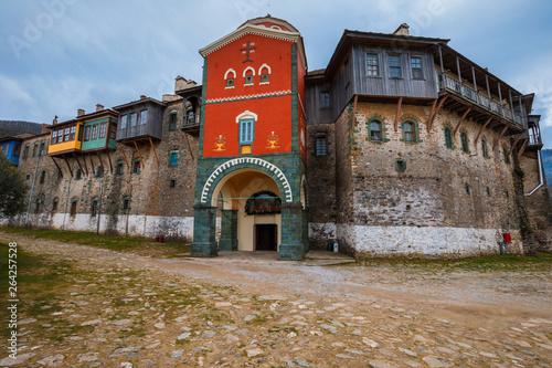Fotografie, Obraz  Philotheou monastery on the Mount Athos