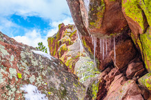 Spring Snowy Hike At Flatirons...