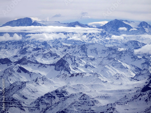 Fototapety, obrazy:  Andes mountain view from an airplane