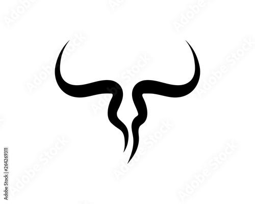 Fototapeta Bull horn logo and symbols template icons app