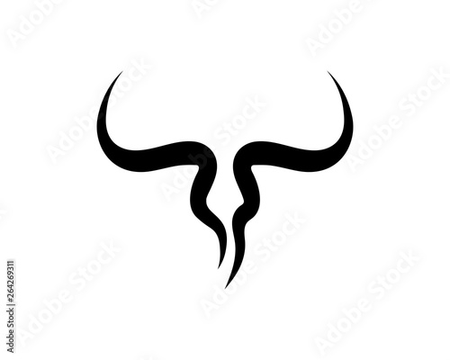 Fotografia Bull horn logo and symbols template icons app