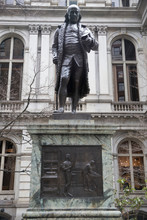 Benjamin Franklin Statue At Old City Hall - Boston, Massachusetts, USA