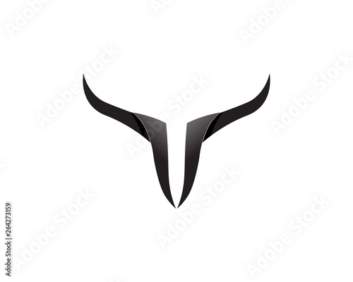 Papel de parede Bull horn logo and symbols template icons app