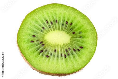 Photographie Slices kiwi fruit isolated on white background