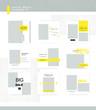 Social media banners, templates set 2