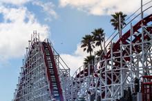 Vintage Wooden Roller Coaster