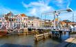 canvas print picture - Zwolle Innenstadt und Almelose Kanaal