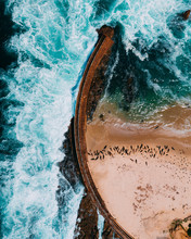 Aerial View Of Bridge In Water